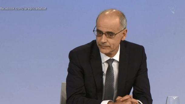 El cap de Govern, Antoni Martí, va participar ahir en el programa 'La Rèplica' d'Andorra Televisió.