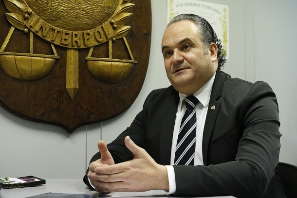 El cap de l'Oficina de cooperació policial internacional i de la Interpol Andorra, Robert Guirao.