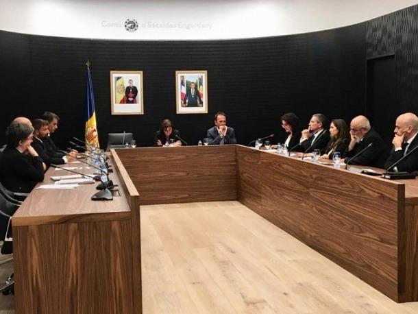 Un moment de la sessió de consell de Comú d'Escaldes-Engordany celebrada aquest dilluns a la tarda.