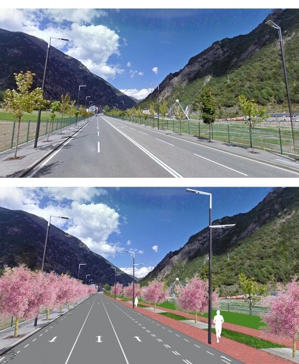 L'avinguda d'Enclar tindrà tres carrils i un passeig de nou metres d'ample avinguda Enclar