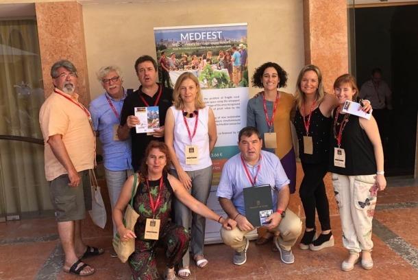 La delegació alturgellenca que va prendre part al Congrés Internacional sobre Turisme Gastronòmic.