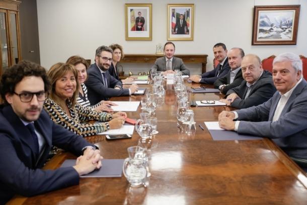 La reunió dels membres del patronat de la Fundació de la Cimera es van reunir a primera hora de la tarda d'ahir.
