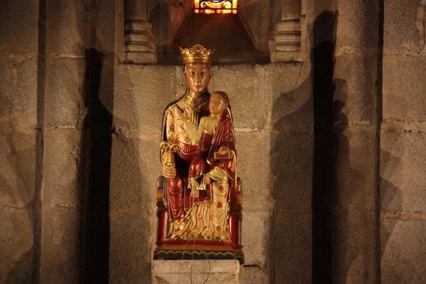La marededeu d'Urgell que presideix la Catedral de la Seu.