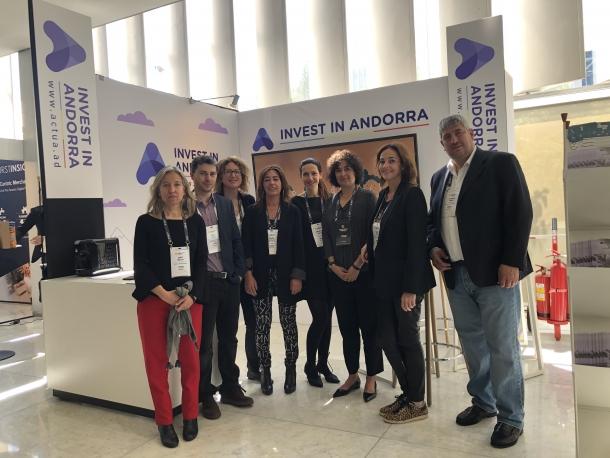 Delegació andorrana que participa al 'World Retail Congress'.