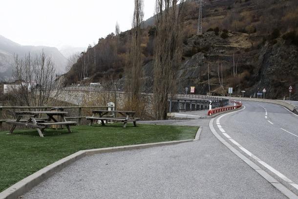 Imatge d'un tram de la CG-2 entre Encamp i Canillo.