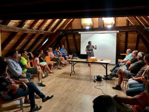Un moment de l'assemblea que Salvem Salau va celebrar dissabte passat.