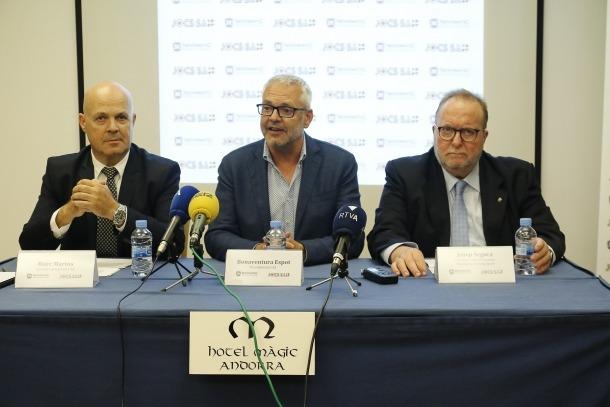 Els representants de JOCS, SA amb Ventura Espot al capdavant.