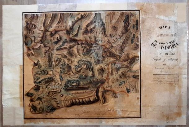 Es desconeix com i quan va ingressar a l'Arxiu aquest document, probablement un encàrrec del bisbe de l'època, Simeó de Guardiola.