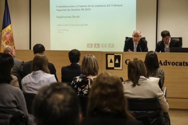 Un moment del taller sobre les amortitzacions fiscals que va impartir l'assessor Marc Vilallonga ahir.