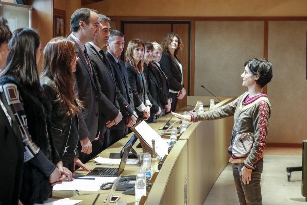 El Comú de la Massana preveu reduir el deute en 5,8 milions d'euros en quatre anys jurament Cristina Pérez directora medi ambient Massana