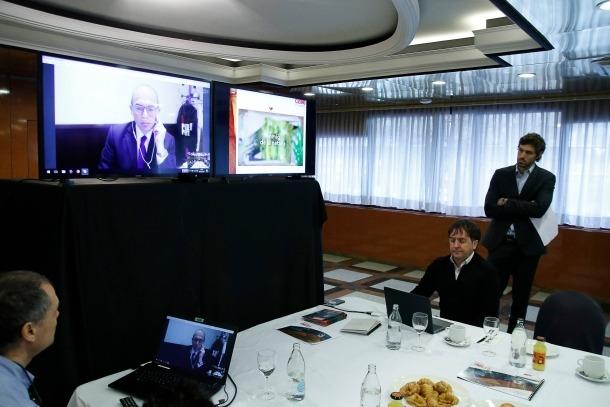 Un moment de la presentació del projecte de l'aliança entre el Grup Cierco i Partouche.