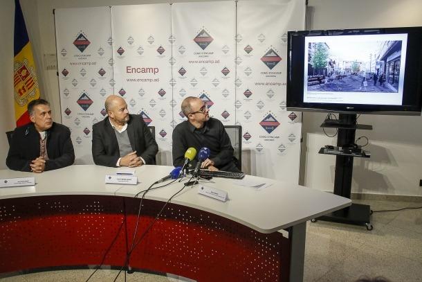 Un moment de la presentació del projecte de remodelació de les avingudes d'Encamp.