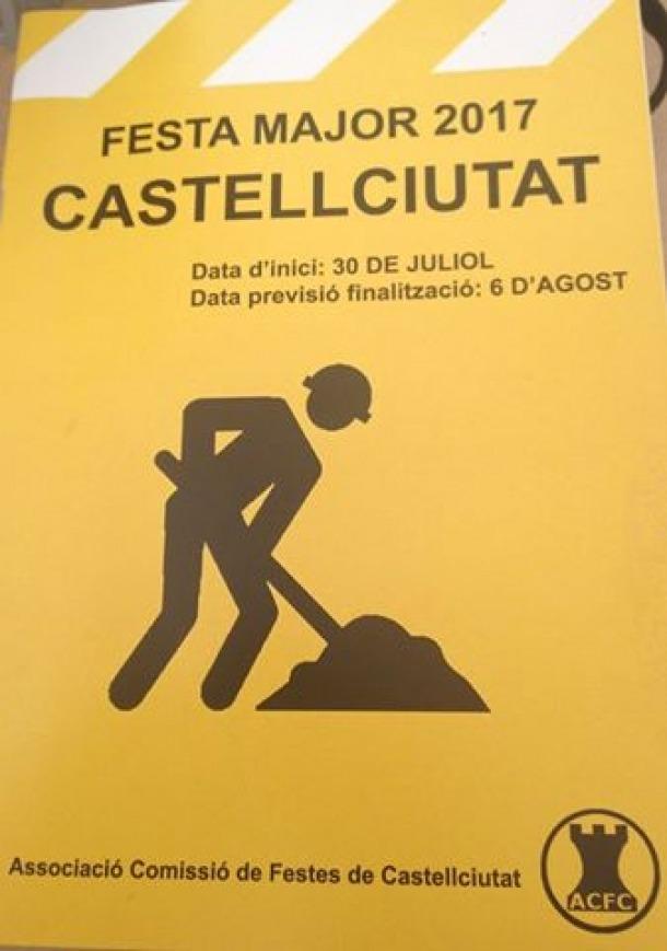 Castellciutat comença a celebrar la festa major amb la Plantada del pi