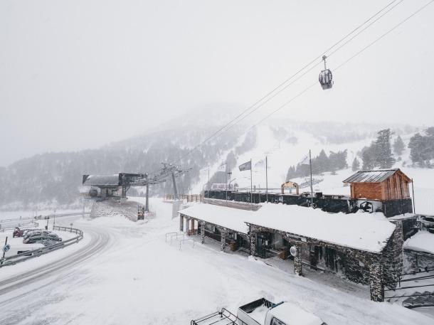 Els gruixos actuals d'Ordino Arcalís se situen entre els 40 i els 70 cm de neus pols, segons les cotes.