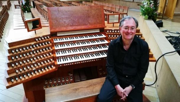 L'organista italià Alessandro Bianchi, que serà el protagonista de l'actuació programada a la Massana el 19 d'agost.