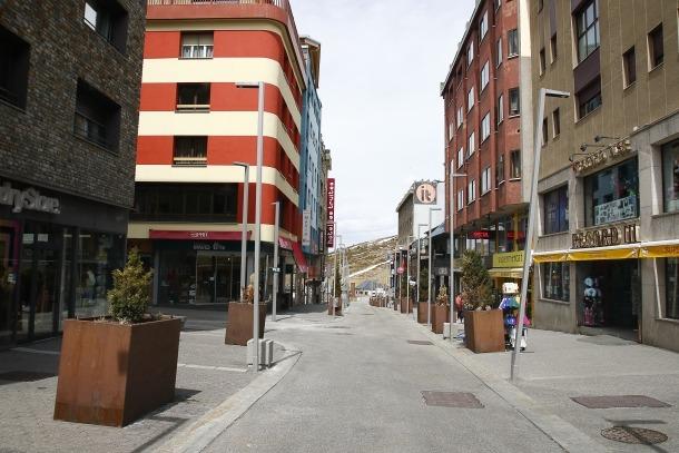 Els carrers buits del Pas de la Casa, la setmana passada.