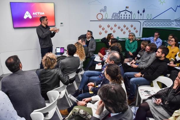 Un moment de la presentació de l'Andorra Esports Clúster ahir a l'Espai d'Innovació.