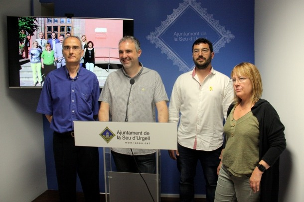 La roda de premsa d'ahir per presentar el cartipàs municipal.