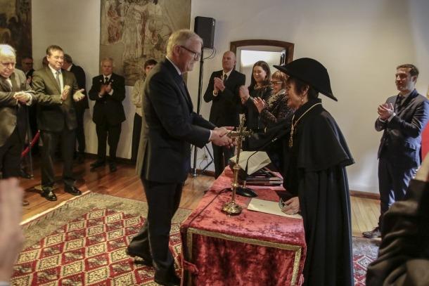 Jean-Yves Caullet va jurar ahir a Casa de la Vall com a magistrat del Tribunal Constitucional en un acte institucional.