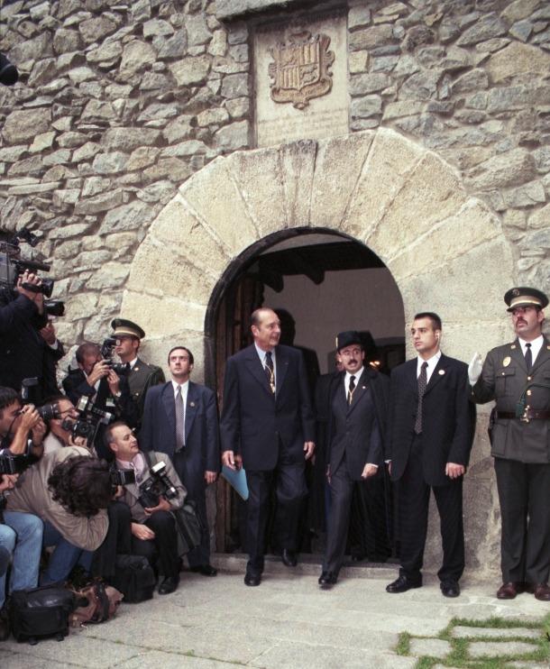 Jacques Chirac durant la seva visita a Andorra l'any 1997.