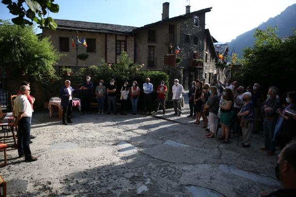 L'acte es va celebrar a l'antic corral de la casa ordinenca.