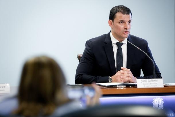 El ministre de Presidència, Economia i Empresa, Jordi Gallardo.