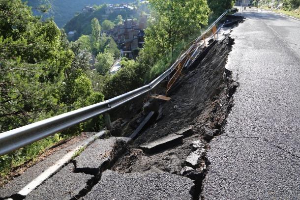 L'estat en què es troba la carretera d'Aixirivall.