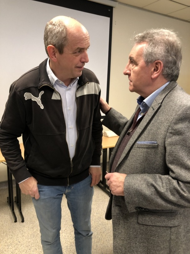 Pierre Larrouturou i Jaume Bartumeu.