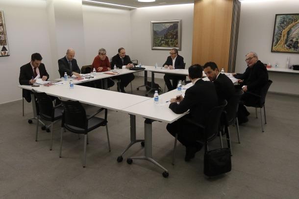 Una de les reunions de la comissió BPA.