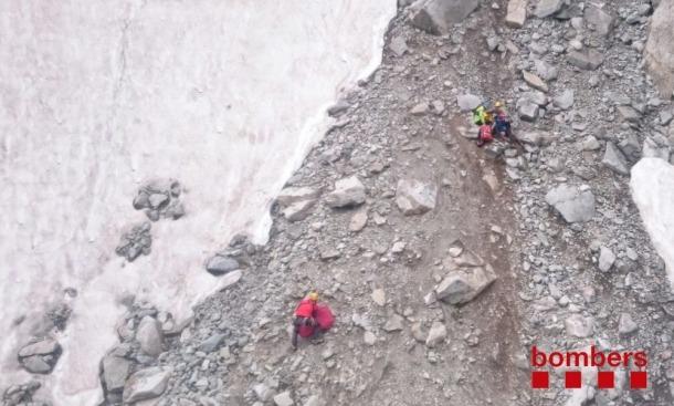 Un jove en estat crític en caure a la Vall de Boí