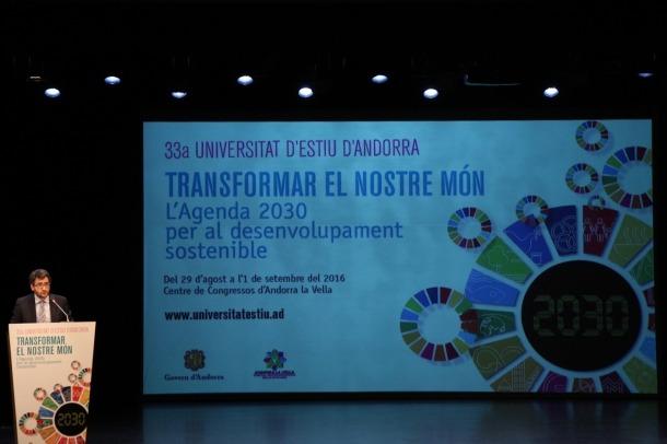 Compromís d'Andorra per assolir els objectius de l'Agenda 2030