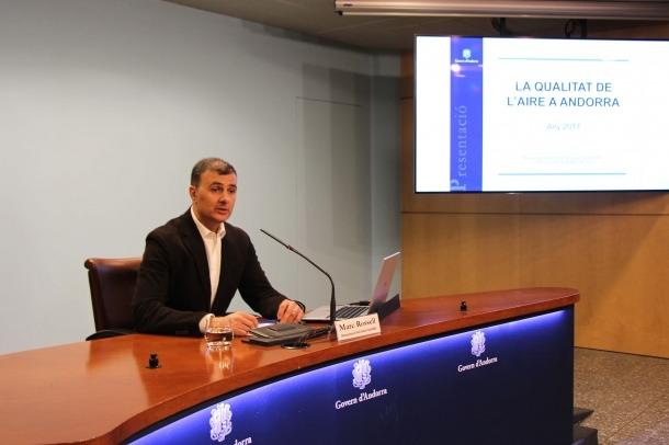 Presentació de l'informe sobre la qualitat de l'aire a Andorra del 2017.