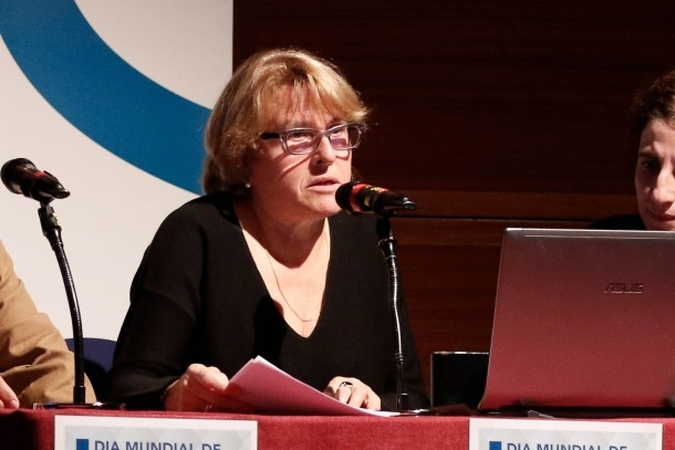 Rosa Lluís és la presidenta de l'Associació de Familiars per la Salut Mental.