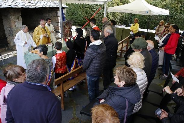 El copríncep episcopal i arquebisbe d'Urgell, Joan-Enric Vives, va presidir la missa que es va celebrar a la una del migdia.