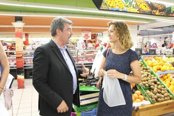 Calvó i Miralles van presentar la campanya ahir a l'Andorra 2000.