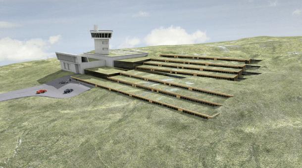 Reconstrucció virtual del futur Centre Residencial en Alçada, Cramea per als amics, amb les terrasses que en modificaran de forma substantiva l'entorn.