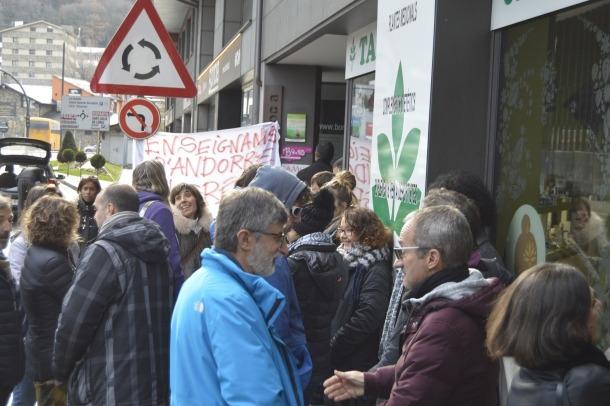 Una concentració anterior dels docents del sistema francès contra la reforma de les pensions.