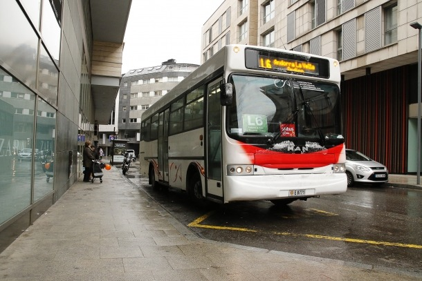 Un autobús de la Cooperativa Interurbana.