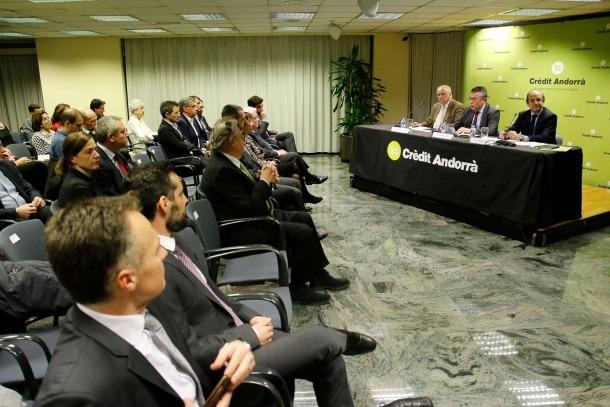Un moment de la conferència que ha ofert el director general de Medi Ambient de la Comissió Europea, Daniel Calleja.