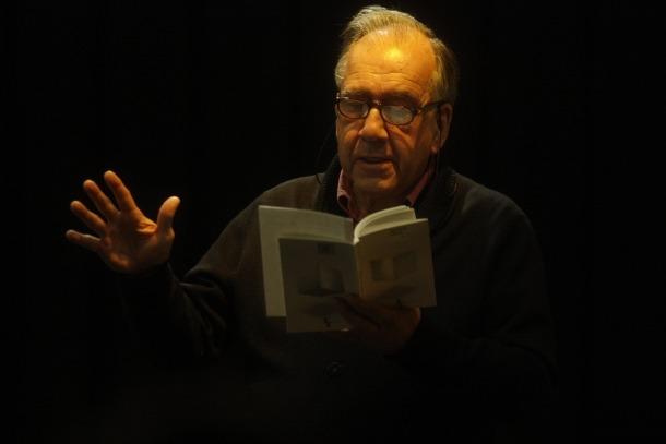 El poeta Margarit, l'abril del 2012, quan va presentar a La Llacuna el poemari 'Marbre d'aire'.