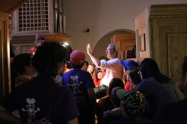 El director del festival, Ignacio Ribas, en una jornada de portes obertes a Sant Esteve.
