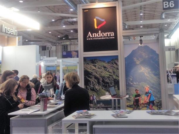 L'estand promocional d'Andorra Turisme a la fira de turisme d'Hamburg.