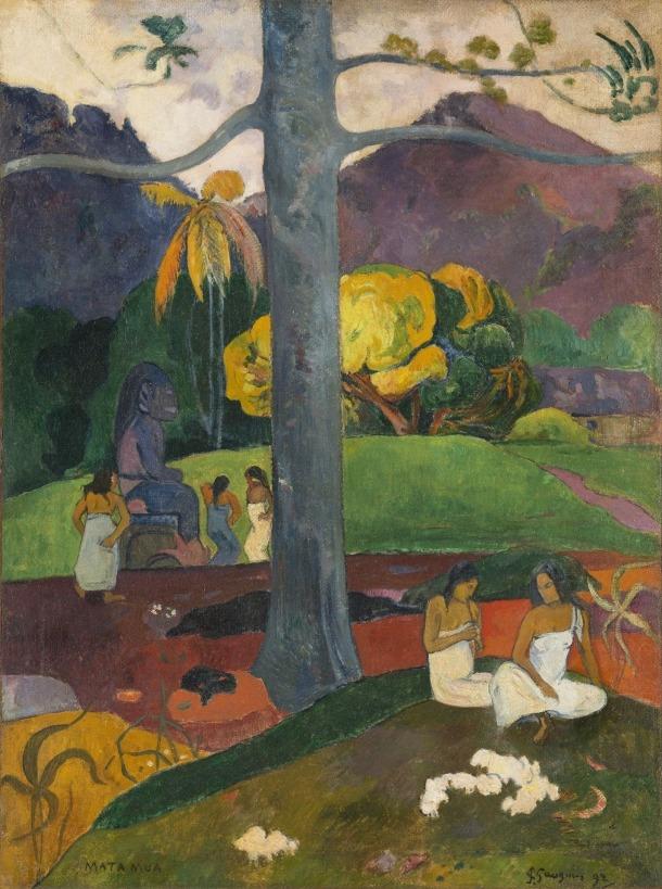 'Mata Mua', de Gauguin (oli sobre tela, 91 per 60 centímetres).
