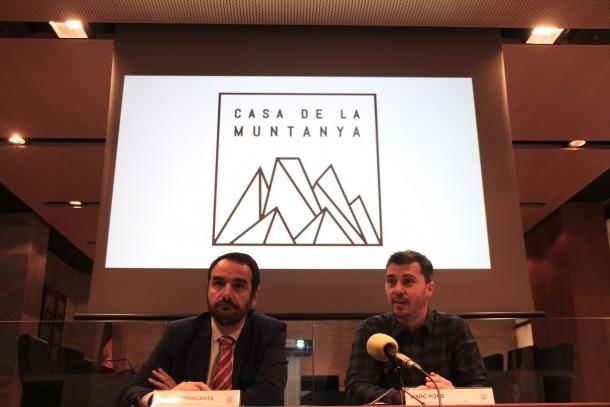 Jordi Serracanta i Marc Pons en la presentació del projecte Casa de la Muntanya.