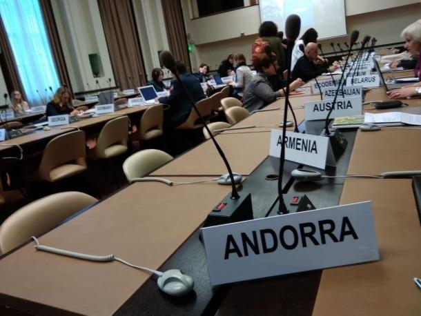 Sala de reunions de la catorzena trobada de l'Unece a Ginebra.