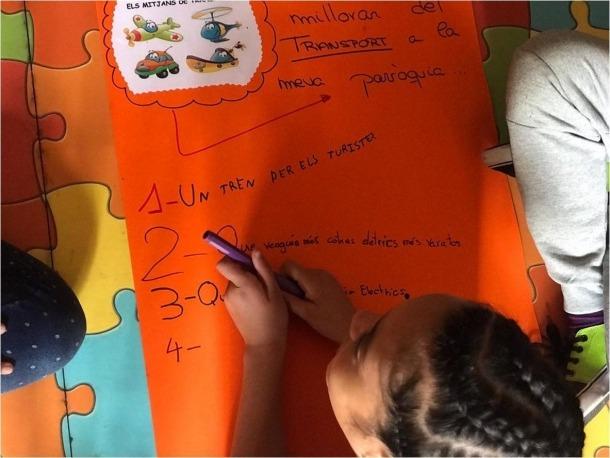 Un dels moments del taller sobre participació dels infants.