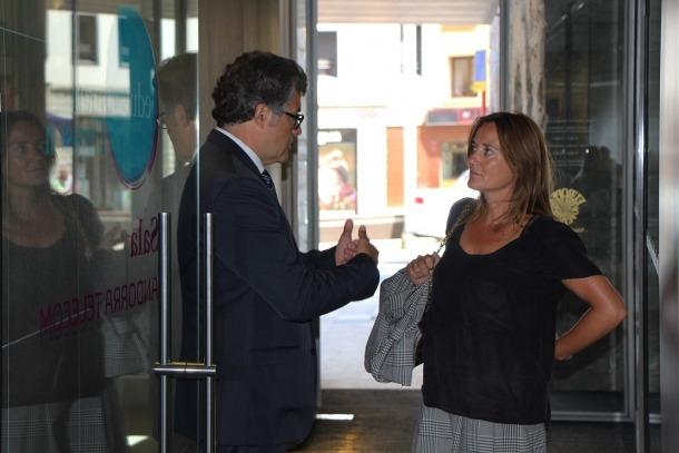 Guille Cervera i Olga Gebaert van fer ahir balanç dels cinc primers mesos d''Allées et vénues'.