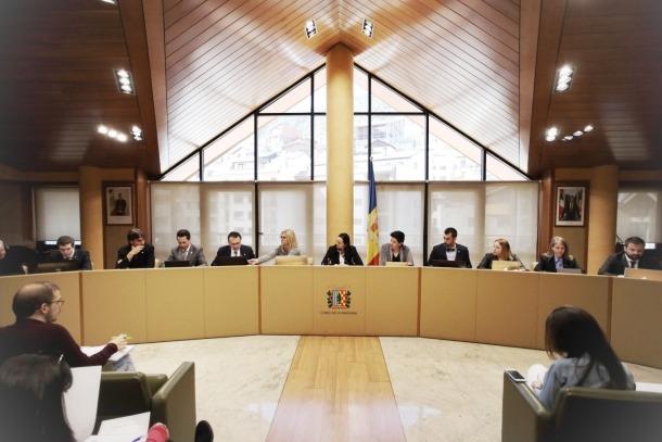 Un moment del consell de Comú celebrat ahir en què es va aprovar el pressupost per al 2020.