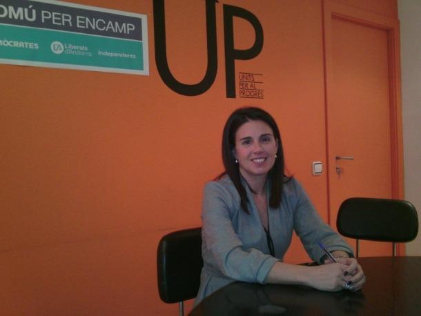 La candidata d'En Comú per Encamp, Laura Mas.