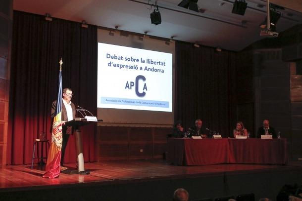 Acte organitzat per l'APCA sobre la llibertat d'expressió.